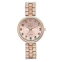 powlancejp 腕時計 レディース ウォッチ ブレスレット風 ラウンドフェイス 合金ベルト 上品 高級感 ビジネス 安い クラシック おしゃれ シンプル プレゼント