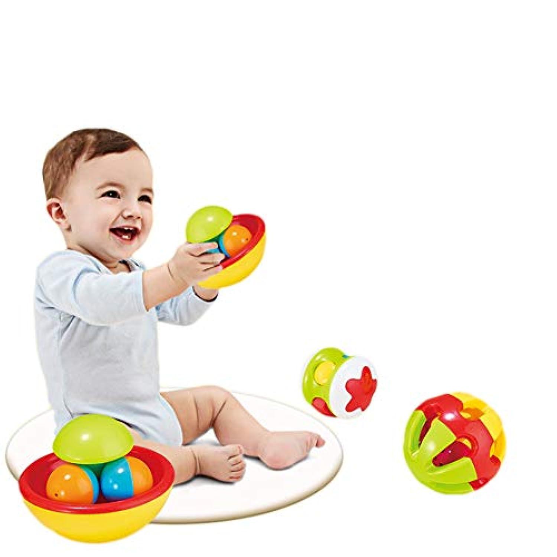 PinShang 3個セット ベビーハンド ベル 大音量 コールベル 早期教育玩具 リトルラウド ジングルボール ラトル 幼児 赤ちゃん 知育玩具