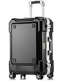 クロース(kroeus)スーツケース 大容量 アルミフレーム キャリーケース 機内持込可 軽量 旅行 出張 TSAロック おしゃれ 耐衝撃 4輪静音ダブルキャスター 仕切り板 クロスベルト 防塵カバー
