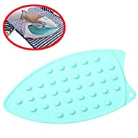 Silicone Ironing Mat, Heat Resistant with 1 FREE Ironing Pressing Pad (COLOR RANDOM), Protective Iron Sorch, Pressing Pad Mesh Cloth, Household Essential, Blue [並行輸入品]