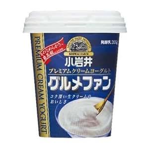 【冷蔵】【6個】プレミアムクリームヨーグルトグルメファン 350g 小岩井乳業