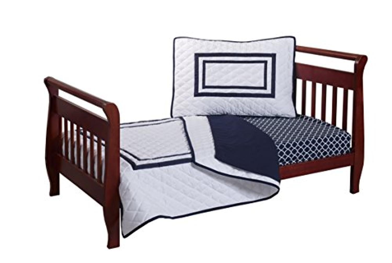 Baby Doll Bedding Soho Toddler Bedding Set, Navy by BabyDoll Bedding