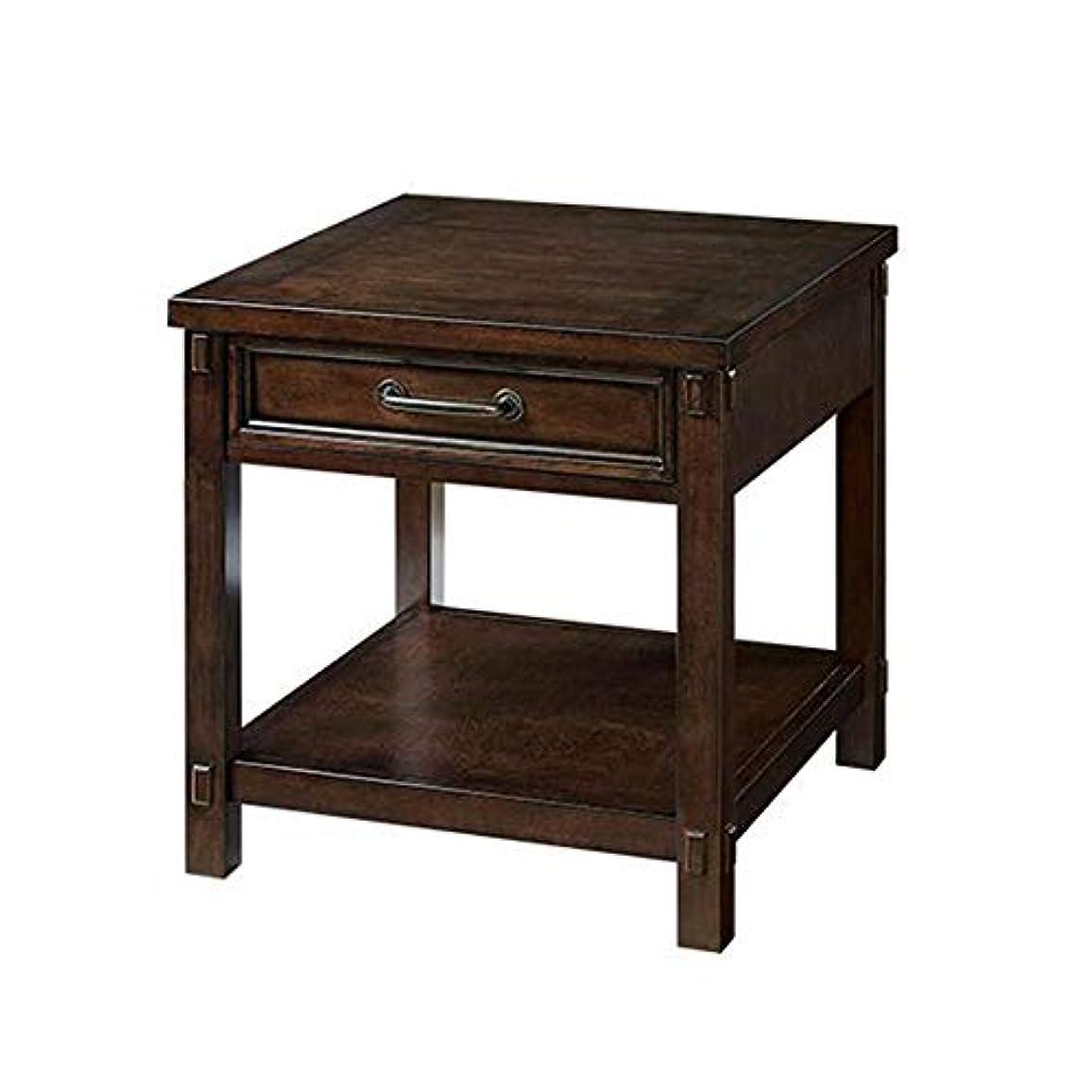キリスト教天才満足できるCJC テーブル、 ベッドサイド 引き出し と 棚 キャビネット 側 表 ストレージ 単位、 ブラック クルミ 色 (色 : 60*60*60cm)