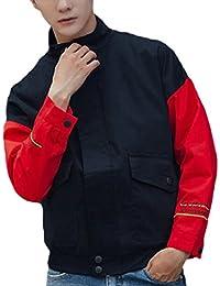 maweisong メンズカジュアルなスリムなバイクがよいボンバージャケットコート