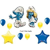 スマーフSmurfetteムービーBirthdayパーティーBalloons Decorations Supplies新しい。By Qualatex