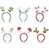 6pcsクリスマスヘアバンドサンタクロースDearヘアバンド頭飾りHolidayパーティー装飾