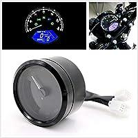 FidgetGear 新しい黒12000 RPMオートバイLCD信号スピードメータータコメーター走行距離計