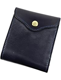 GLENROYAL グレンロイヤル 小銭入れ付き二つ折り財布/スライディングウォレット ブライドルレザー 03-5956 DARK BLUE ネイビー