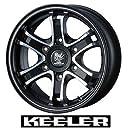 【WEDS:KEELER FORCE】キーラーフォース:マットブラックポリッシュ:16X6.5J 6H 38 139.7 ハイエース200系 等【1本の価格です】
