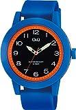 シチズン Q&Q 腕時計 アナログ ビックフェイス 防水 ウレタンベルト VS56-012 メンズ ブルー ブラック