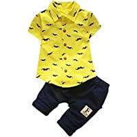 FEITONG Baby Boys' T Shirt Tops+Shorts Pants Outfit Clothes Set Suit