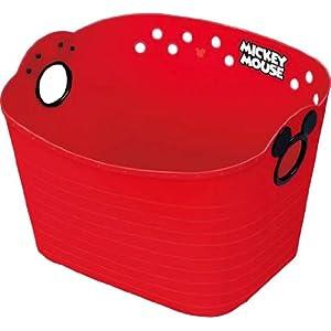 錦化成 収納ボックス ミッキーマウス やわらかバケツ SQ43 レッド