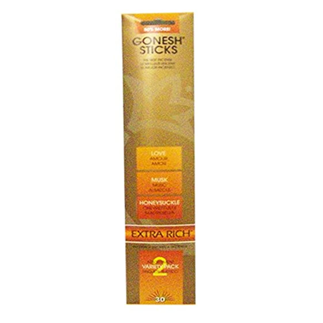 顧問の剪断Gonesh Incense Variety Pack # 2love、ムスク& Honeysuckle30 Sticks in 1パック) 2208107