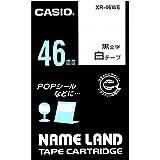 カシオ ラベルライター ネームランド 純正 テープ 46mm XR-46WE 白地に黒文字