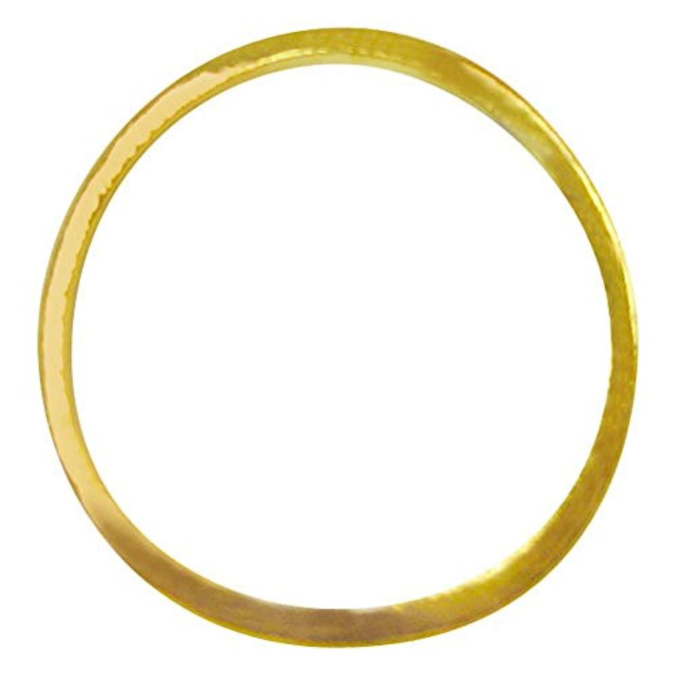 階進捗ラフジェルネイル  サンシャインベビー シンプル ラウンドフレームL(ゴールド) 10P