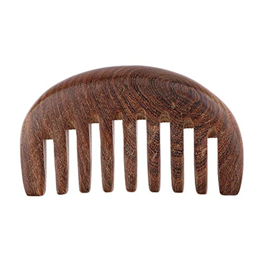 補助金荒らすロデオT TOOYFUL くし コーム 荒め 櫛 木製 美髪ケア サンダルウッド製 帯電防止 毛縮れ避け 3色選べ - クロロフォラ