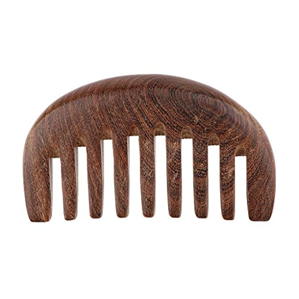 聞く液化する天窓くし コーム 荒め 櫛 木製 美髪ケア サンダルウッド製 帯電防止 毛縮れ避け 3色選べ - クロロフォラ