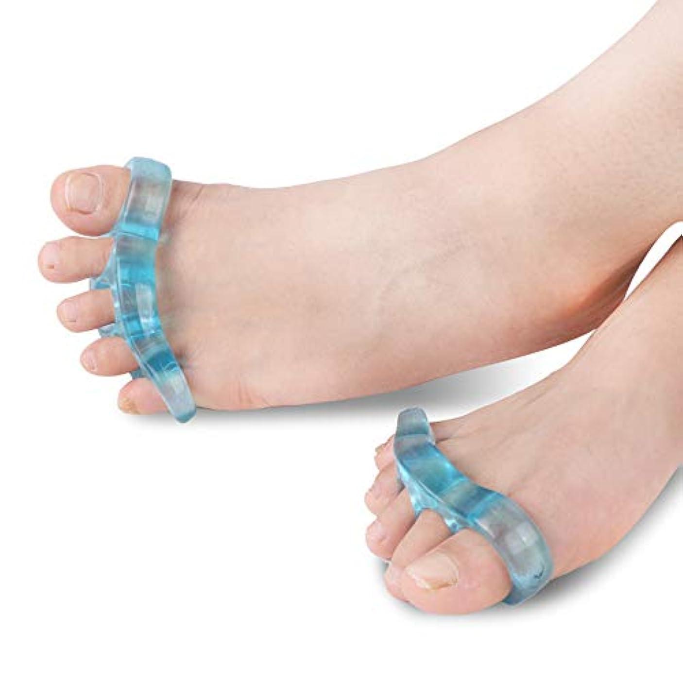 少ないとんでもない健康つま先セパレーター5穴つま先反曲がり変形補正はヨガと運動後の痛みを和らげるために外反母趾スリッパを防ぎます,L
