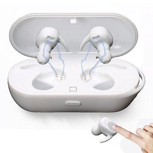 Bluetooth イヤホン 完全ワイヤレスイヤホン 日本語説明書 左右分離型 タッチセンサー ブルートゥース 多機能タッチパッド コードレスIPX5防水防滴 充電式収納ケース マイク付き ハンズフリー通話 iPhone Android など対応 ホワイト