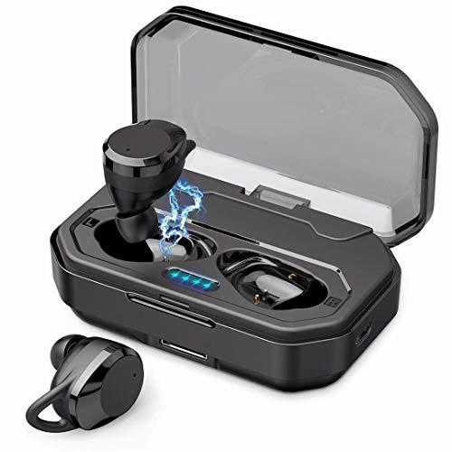 進化版 3600mAh IPX7完全防水Bluetooth イヤホン 130時間連続駆動 Hi-Fi 高音質 最新Bluetooth5.0+EDR搭載 3Dステレオサウンド 完全ワイヤレス イヤホン 自動ペアリング ブルートゥース イヤホン 左右分離型 Siri対応 音量調整可能 超大容量充電ケース付き 片耳両耳とも対応 iPhone/ipad/Android適用[技適認証済]