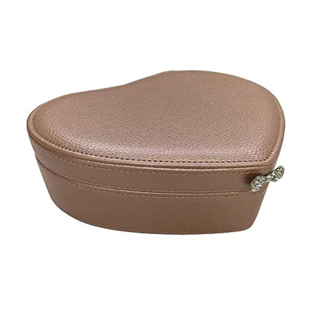 会社驚くべきまばたき化粧オーガナイザーバッグ 小さなアイテムのストレージのための丈夫な女性のジュエリーのストレージペーパーボックス 化粧品ケース (色 : 褐色)