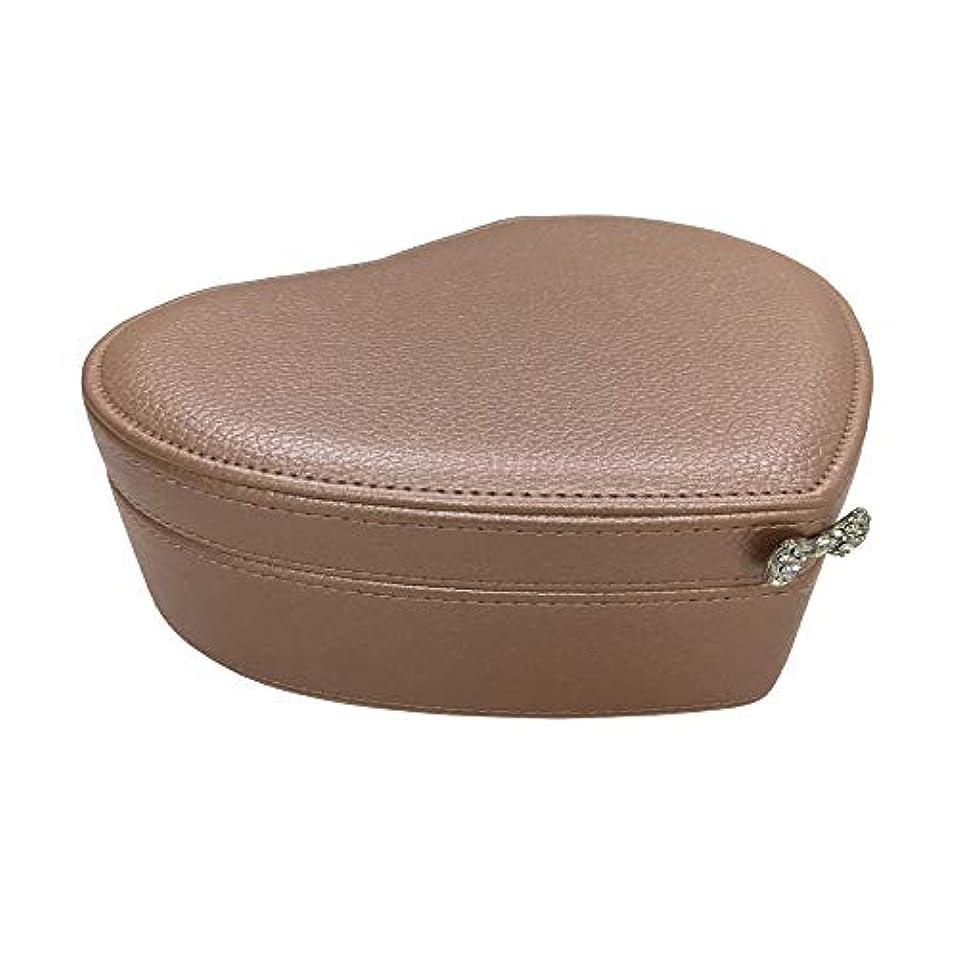 歩道海嶺池化粧オーガナイザーバッグ 小さなアイテムのストレージのための丈夫な女性のジュエリーのストレージペーパーボックス 化粧品ケース (色 : 褐色)