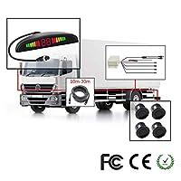 Z-DCYX 車 リバース リアビューカメラ ダブルCPU セキュリティ バック駐車 レーダーセンサー 自動車 4つのセンサー アラームブザー バン キャンプ 車 トラック RV用