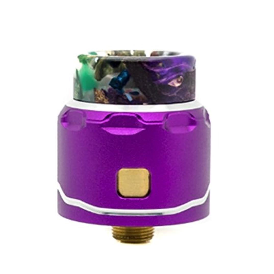 緑砲兵トリップasMODus C4 LP Single Coil RDA 電子タバコ アトマイザー アスモダス C4LP ASMODUS製 24mm シングルドリッパー (Purple)