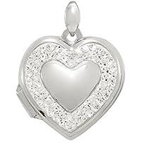 Bevilles Sterling Silver Heart Locket Pendant XX9315/XX1279