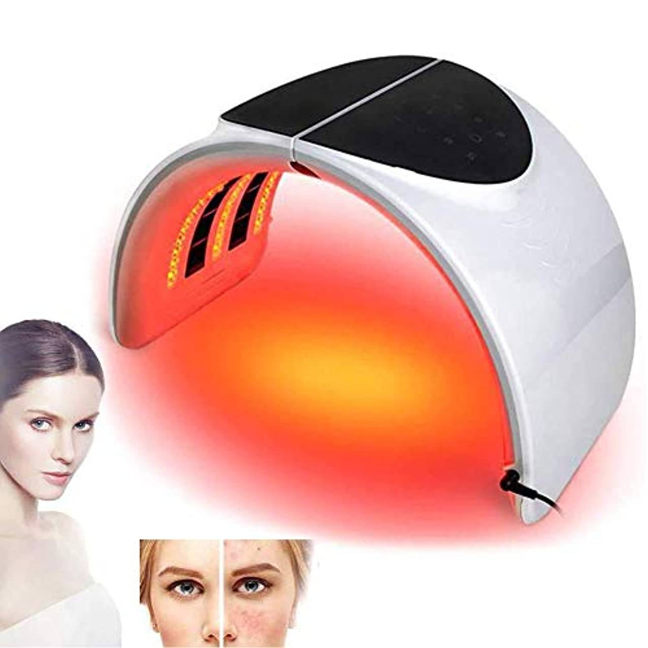 南アメリカ効能氏7色LEDフォトンライトセラピー美容機折り畳み式PDTフェイシャルビューティー肌の若返り抗しわマスクデバイス