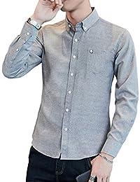 e2b1321f910c3d Gayato Sakura yシャツ メンズ オックスフォード 長袖 七分袖 半袖シャツ メンズ ボタンダウン スリム 襟高 カジュアル ワイシャツ  無地 春 夏 秋 冬 ドレスシャツ…