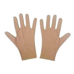 撥水スケート用手袋 10歳用 肌色