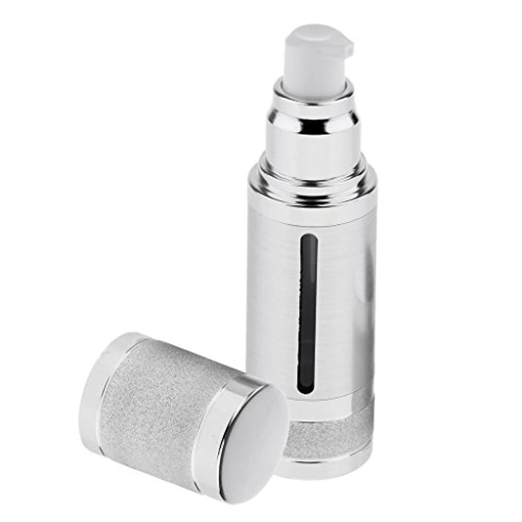 血色の良い通訳サイトポンプボトル 空ボトル エアレスボトル 30ml ローション クリーム 化粧品 詰め替え 容器 DIY 2色選べる - 銀
