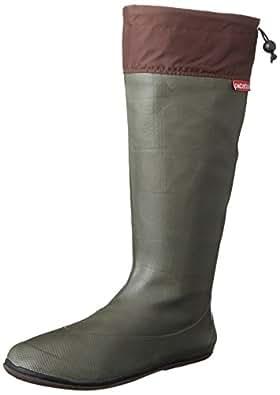 [アトム] 軽くてコンパクト 携帯するブーツ ポケブー pokeboo 両足で500g以下の軽量長靴 371 メンズ カーキ SS(22.5~23.0cm)