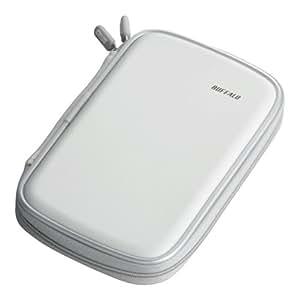iBUFFALO キャリングバッグ HDDケース HD-PEU2専用 セミハード ホワイト BSHC01WH