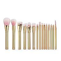 FidgetGear 15本の化粧ブラシ化粧品パウダーファンデーションメイクアップブラシセット 15本ローズゴールドブラシ