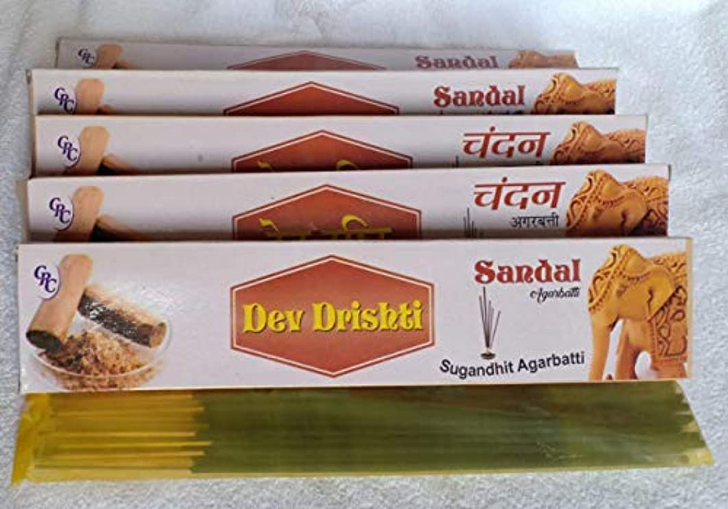 報復望み役割Dev Drishti Agarbatti Pack Of 5 (Per Pack of 15 Sticks) (Rose)