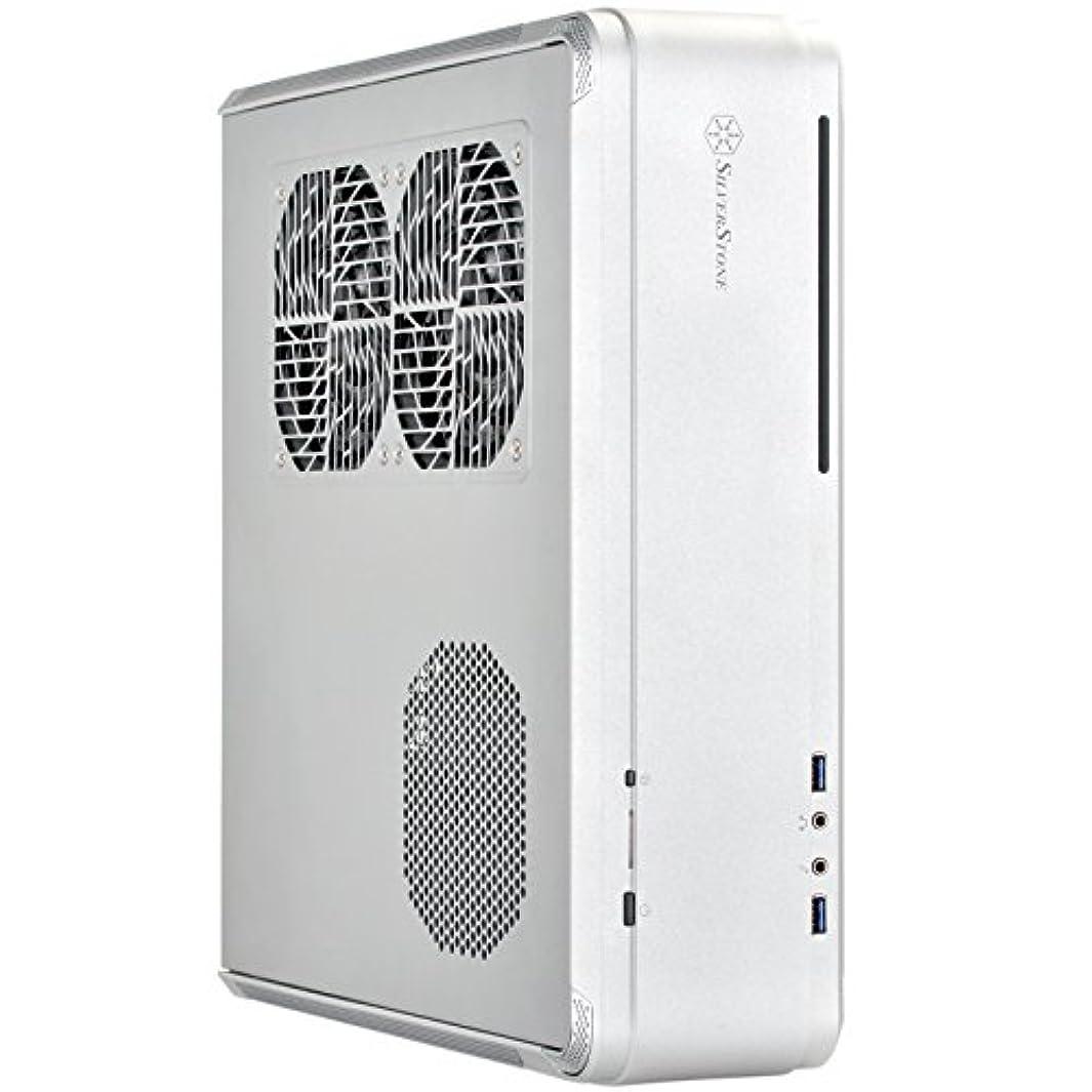 領域曇った音楽を聴くSilverStone FORTRESSシリーズ Mini-ITX対応PCケース 縦置き?横置き対応 アルミニウム?ユニボディ?フレーム シルバー SST-FTZ01S
