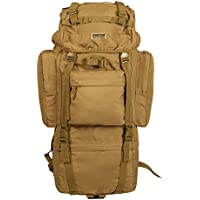 Seibertron Military Molle Backpack 900D Oxford Waterproof Tactical Hiking Camping Backpack 65L Internal-Frame Travel Sports Bag, Free Rain Cover Included