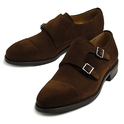 Berwick バーウィック スエード ダブルモンクストラップ シューズ 革靴 4834 POLOBROWN 8.5