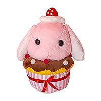 クリエイティブ新しい女の子ハート垂れ耳ウサギ枕ケーキネット赤人形ぬいぐるみ子供ギフト,ピンク,48 cm(0.69 kg)