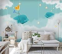壁紙不織布プレミアム壁の壁画装飾アートプリントポスター写真写真モダン装飾イルカ写真リビングルーム保育園の寝室の家の装飾250cm x 175cm