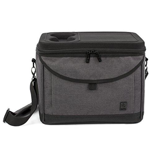 ALLCAMP 22L クーラーバッグ ソフトクーラー 保冷バッグ クーラーボックス 大容量 冷蔵ボックス アウトドア 肩掛け 運動会 (ブラック)
