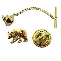 Bearタイタック~ 24Kゴールド~タイタックまたはピン~サラのTreats & Treasures