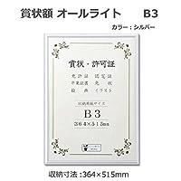 アルミ賞状額 オールライト B3 シルバー 33J091B4401