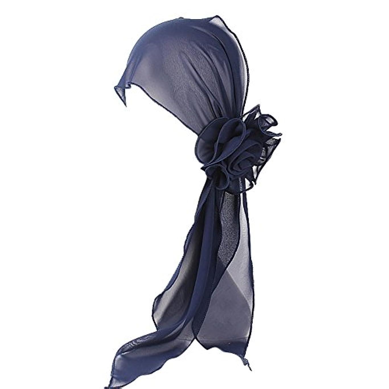 傾く行政しつけヘッドスカーフ ハット 帽子 Timsa レディース スカーフキャップ 花の形 ヘッドスカーフ 睡眠 抗UV 脱毛症 化学療法の患者のために バイザー 夏用帽子 イスラム教徒 フヘッドバンド スカーフ ヒジャブ 山の日...
