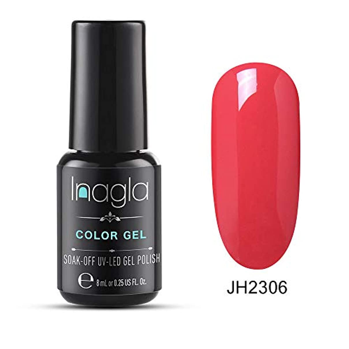 Inagla ジェルネイル カラージェル ワインレッド系 8ml-JH006