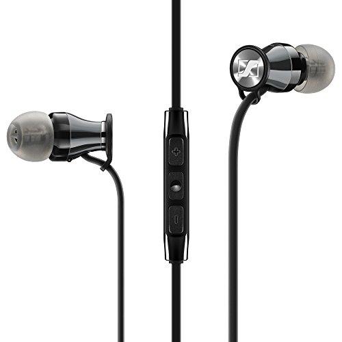 ゼンハイザー カナル型イヤホン MOMENTUM In-Ear i Black Chrome Apple用リモコン付属 M2 IEi BLACK CHROME