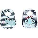 Mud Pie 海賊シャークそして、2のタコPacyベビー幼児の布ビブセット