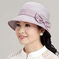 Women's Hat Ms Cap Summer Autumn Thin Sun Hat Basin Cap Fisherman Hat Cotton Beach Hat (Color : Grey)